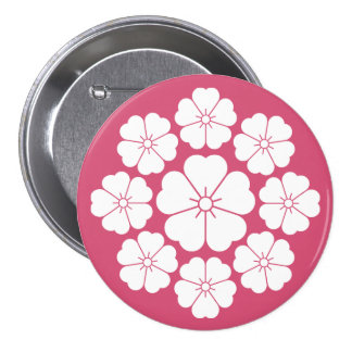 Nine stars-style cherry blossoms button