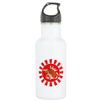 Nine Tailed Red Fox (Kitsune) 18oz Water Bottle