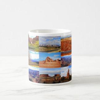 Nine Utah Landscape Collage Icons Classic White Coffee Mug