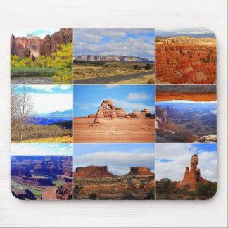 Nine Utah Landscape Icons Mouse Mat