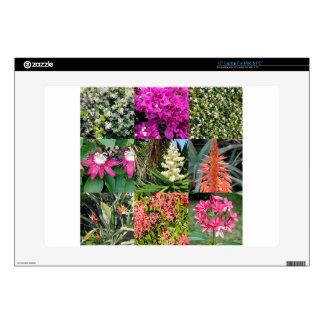 Nine Varieties of Florida Flowers in Photo Panels Skin For Laptop