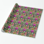 Nine Varieties of Florida Flowers in Photo Panels Wrapping Paper