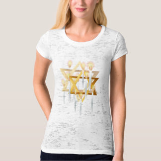 Nine White Candles Oval Shirts