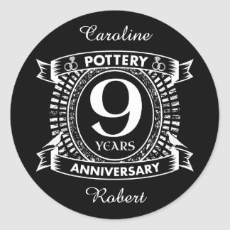 9 Year Anniversary Stickers | Zazzle