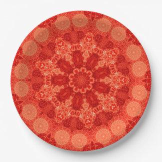 Ninefold Passion Star Mandala Paper Plate