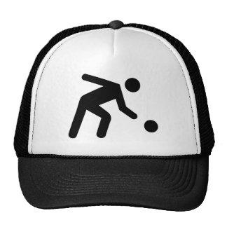 Ninepins skittles player trucker hat
