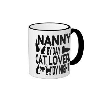 Niñera del amante del gato taza