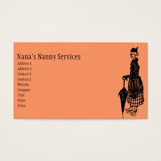Niñera del vintage tarjeta de negocios