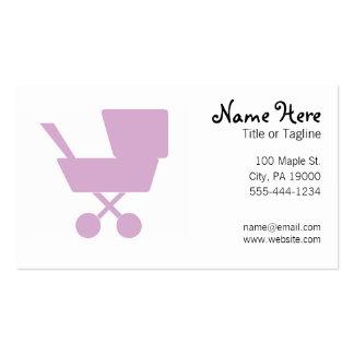 Niñera que cuid losa nin¢os del cuidado de niños plantilla de tarjeta de visita