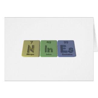 Nines-N-In-Es-Nitrogen-Indium-Einsteinium.png Tarjeta De Felicitación
