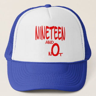 Nineteen and Not (Red Letter) Cap