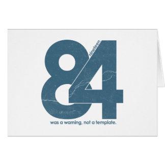 Nineteen eighty Four 1984 Greeting Card