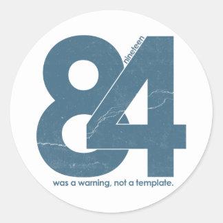 Nineteen eighty Four 1984 Sticker