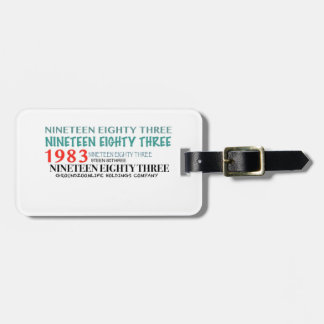 NINETEEN EIGHTY THREE LUGGAGE TAG