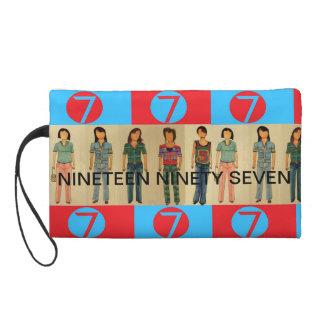 NINETEEN NINETY SEVEN 7   ladies number 7 Wristlet Clutch