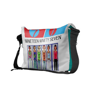 Nineteen Ninety Seven ,  six ladies in tank tops Courier Bags