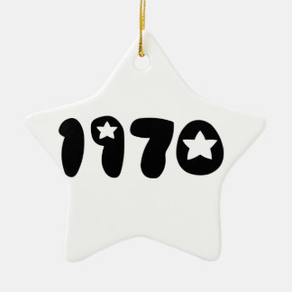 Nineteen Seventy. Ceramic Ornament