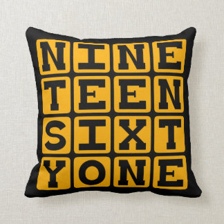Nineteen Sixty One, Year 1961 Throw Pillow