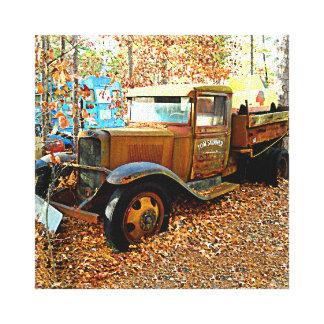 Nineteen Thirties Era Junk Yard Tow Truck Canvas Print