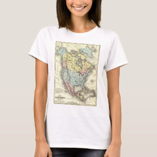 Nineteenth Century Antique Map of North America T-Shirt