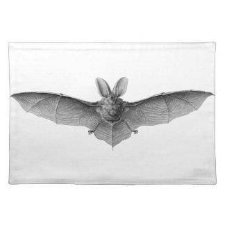 Nineteenth century bat pencil drawing by Haeckel Placemats