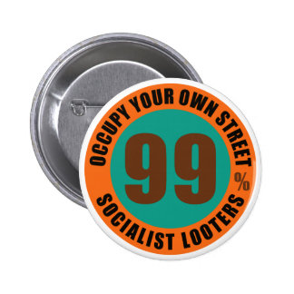 Ninety Nine Percent Socialist Looters Pinback Buttons
