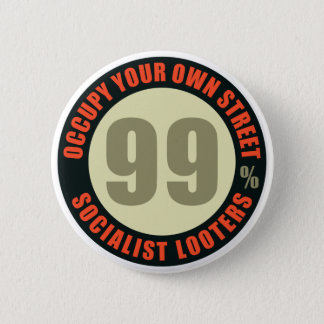 Ninety Nine Percent Socialist Looters Button