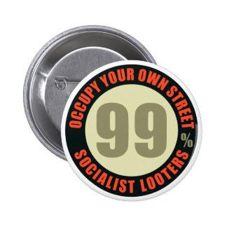 Ninety Nine Percent Socialist Looters Button