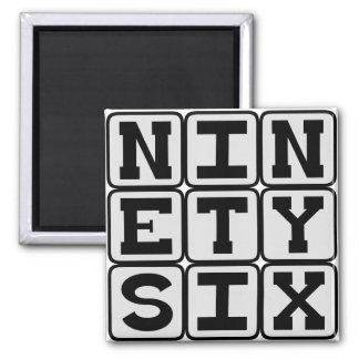 Ninety Six, Number 96 Magnet