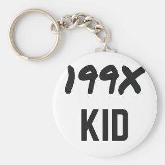 Ninety's Generation X Illustration Design Keychain