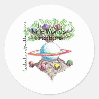 nineworldscreations classic round sticker