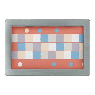 Niñez colorida hebilla cinturon rectangular