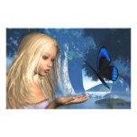 Ninfa azul de la mariposa y de agua - 2  papeleria