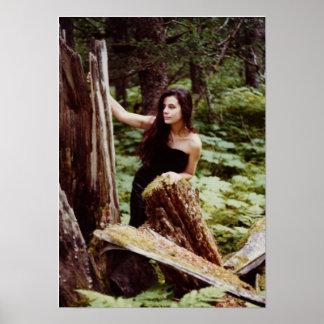 Ninfa de madera póster