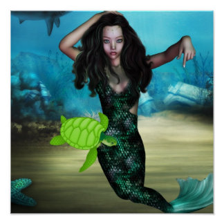 Ninfa de mar póster