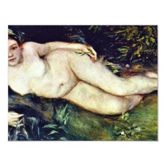"""Ninfa en la fuente de Pierre-Auguste Renoir Invitación 4.25"""" X 5.5"""""""