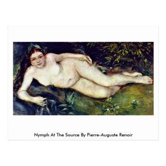 Ninfa en la fuente de Pierre-Auguste Renoir Tarjetas Postales