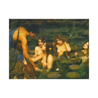Ninfas 1896 impresión en lienzo estirada