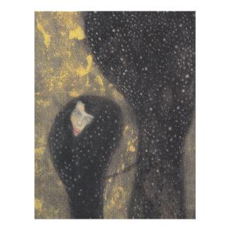 Ninfas de agua (Silverfish) por Gustavo Klimt Membrete