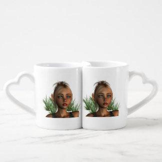 Ninfas del duende tazas para enamorados