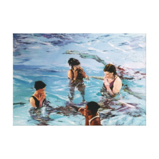 Ninfas en el agua/Nymphs in the water Lienzo Envuelto Para Galerias