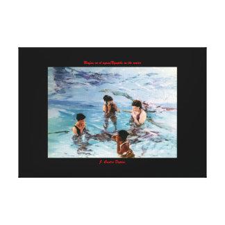 Ninfas en el agua/Nymphs in the water Lona Estirada Galerías