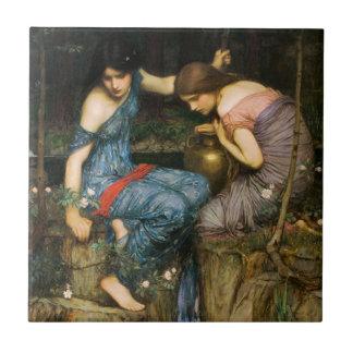 Ninfas que encuentran el jefe de la teja de Orfeo