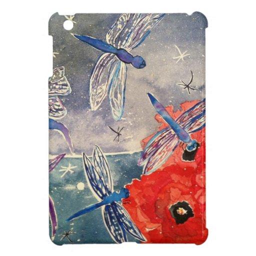 Ninfas y pintura de la acuarela de la libélula
