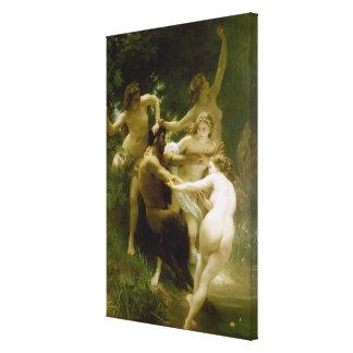 Ninfas y sátiro (Nymphes y sátiras) (1873) Impresion En Lona