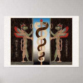 Ningishzida Serpents Print
