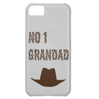 NINGÚN 1 Grandad con el gorra de vaquero Funda Para iPhone 5C