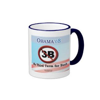 Ningún 3B, taza azul de la manija