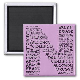 Ningún abuso, drogas, o miedo (letra N - parte del Imán De Nevera