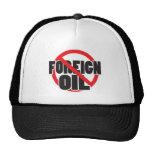 Ningún aceite extranjero gorros bordados